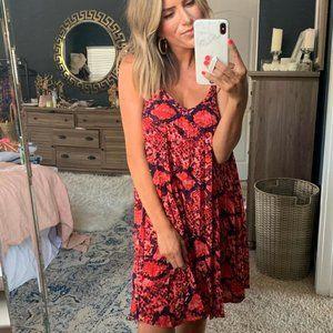 Gibson Red Snakeskin Dress